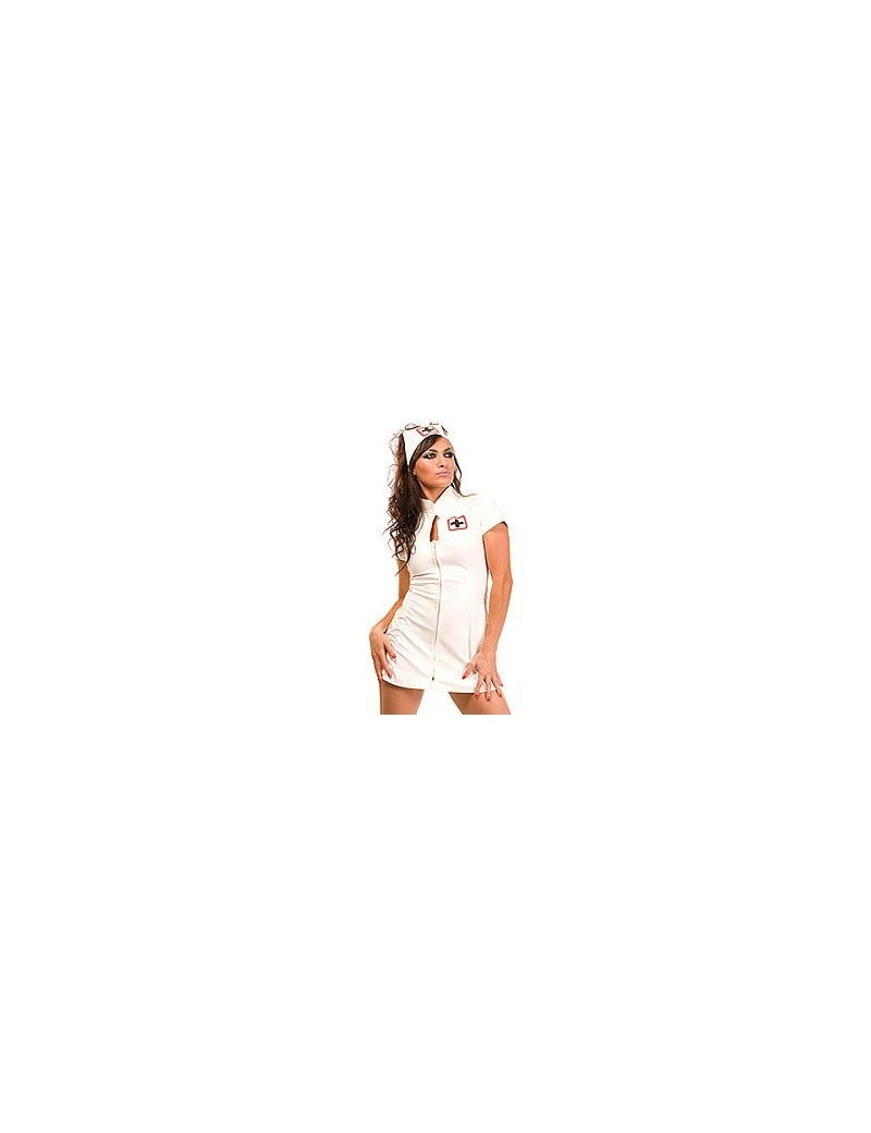 PVC Nurse Dress White