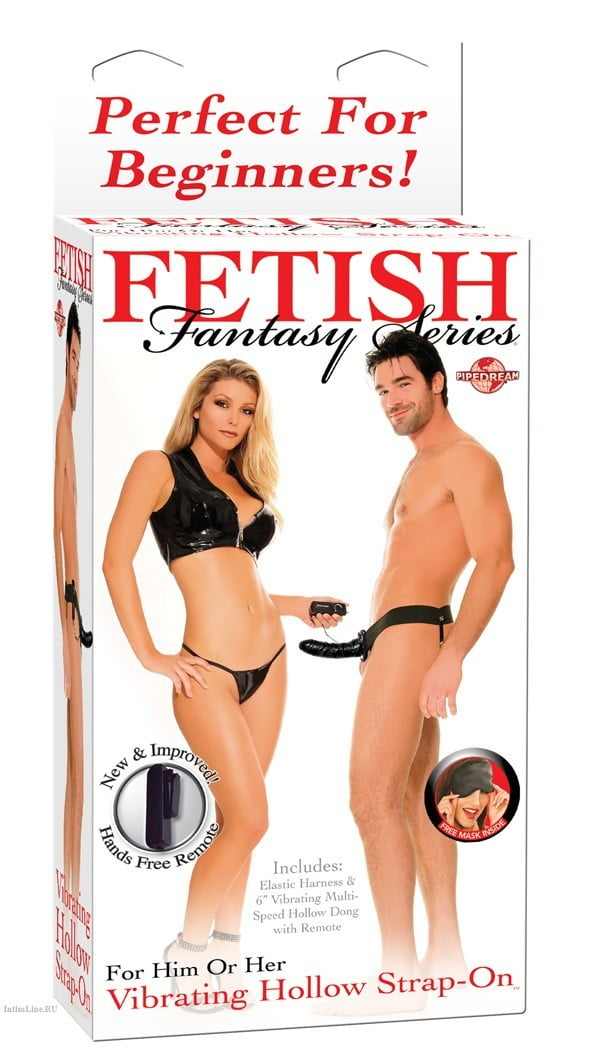 "Fetish Fantasy 6"" Vibrating Hollow Strap-On"