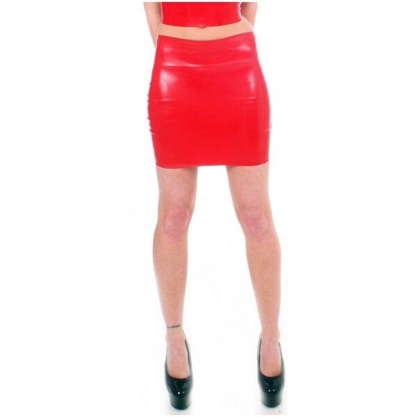 Red Latex Mini skirt by Taboo