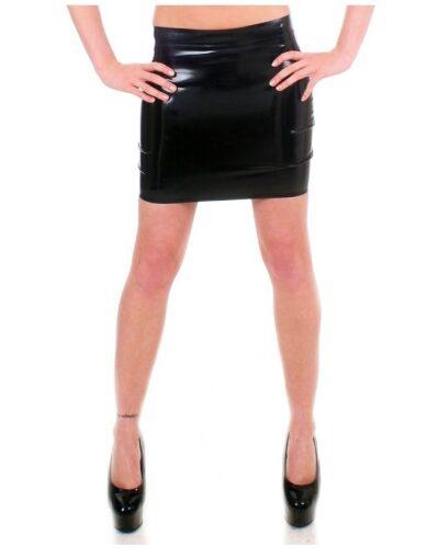 Black Latex Mini skirt by Taboo