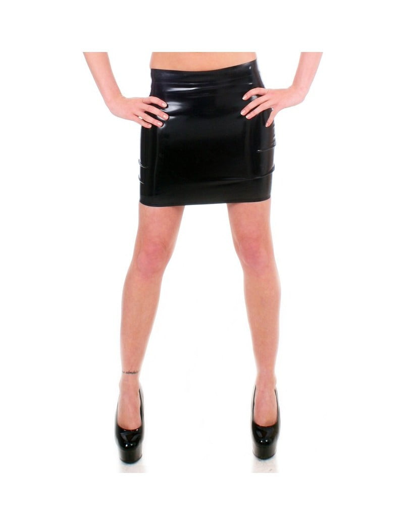 Black Latex Mini skirt by Taboo