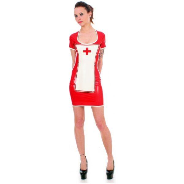 Red Latex Nurse Uniform by Taboo