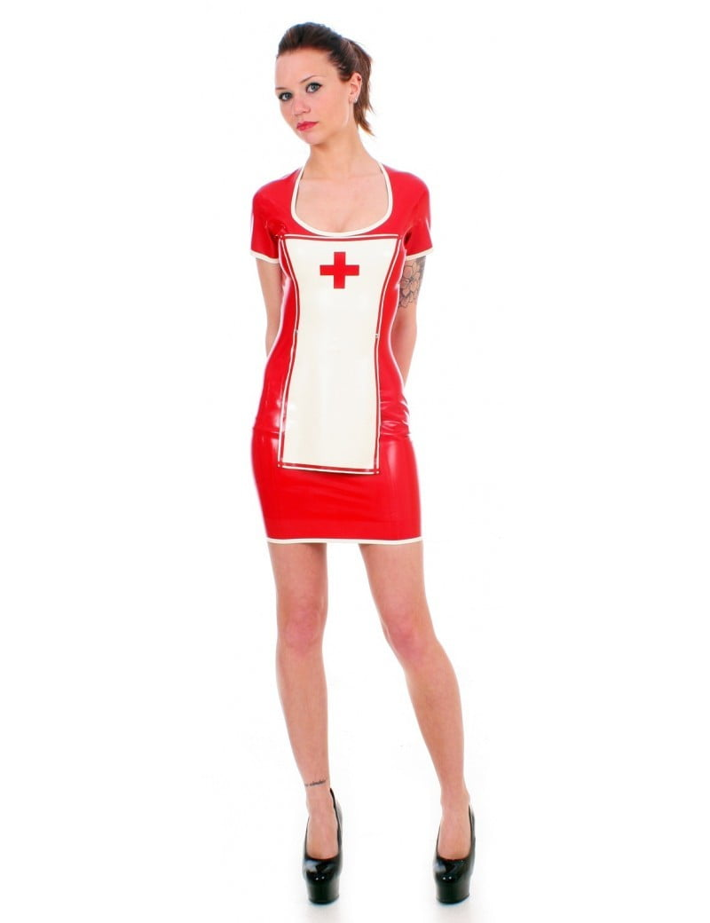 Red Latex Nurse Uniform by Taboo