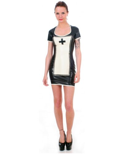 Black Latex Nurse Uniform by Taboo