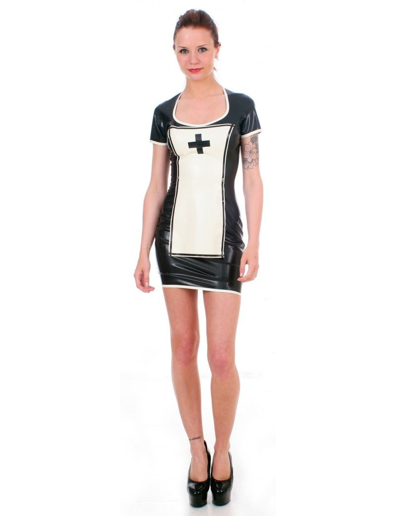 Black Latex Nurse Uniform by Taboo