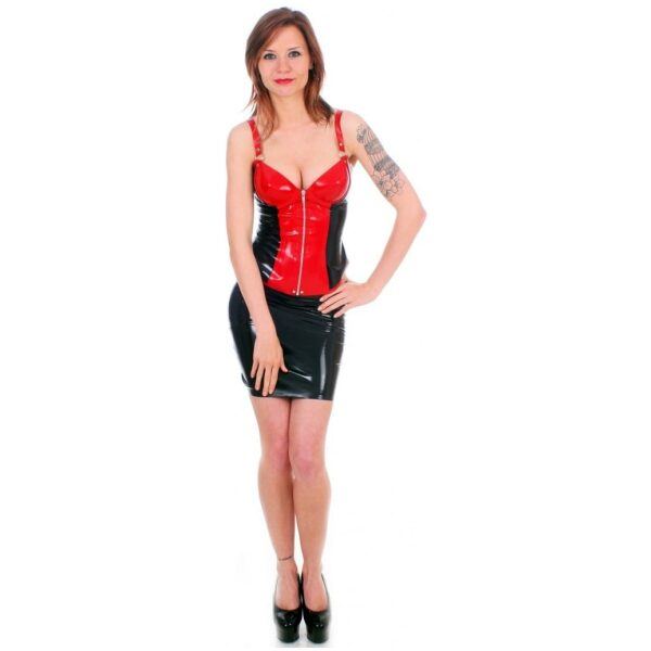 Black & Red Latex Basque by Taboo