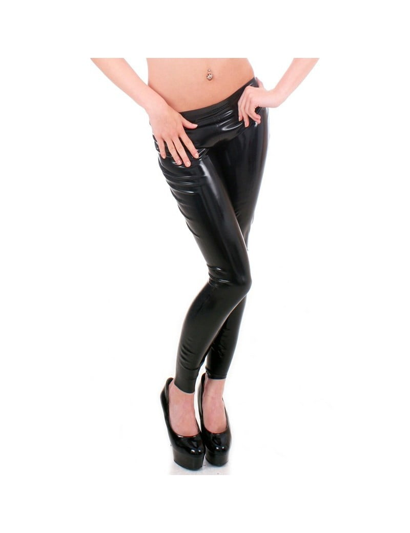 Black Latex Women's Leggings by Taboo