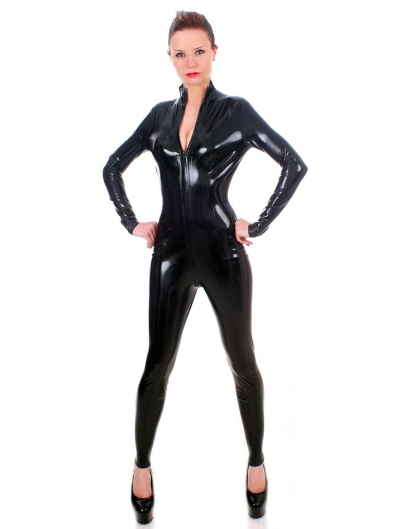 Black Latex Women's Catsuit by Taboo