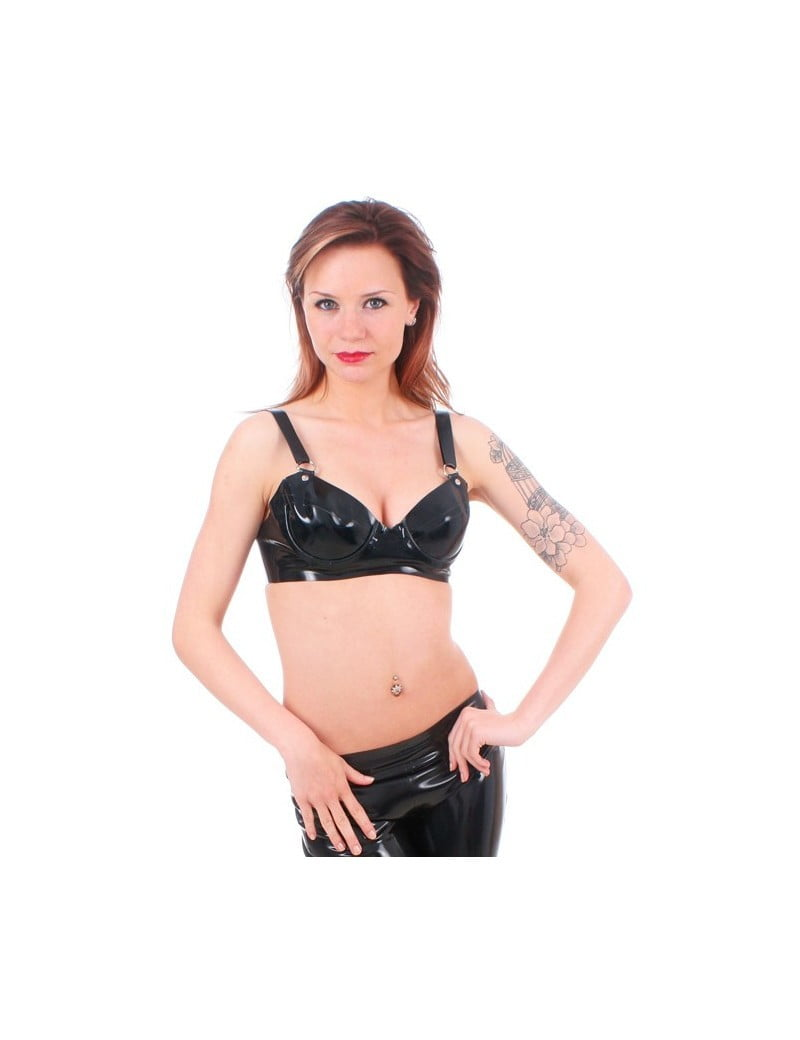 Black Latex Bra by Taboo
