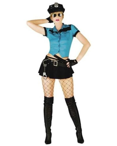 Sexy Cop Top and Skirt Costume