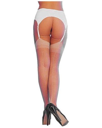 Sheer Cuban Heel Seamed Stockings