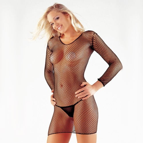Industrial Fishnet Dress
