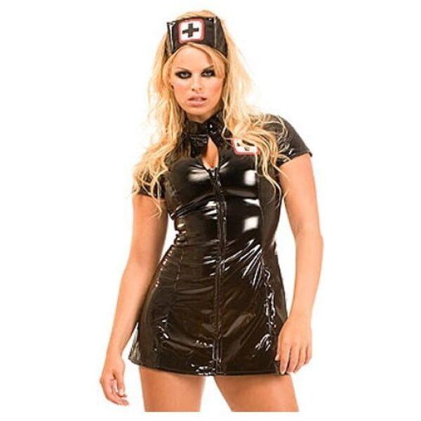 PVC Nurse Dress Black