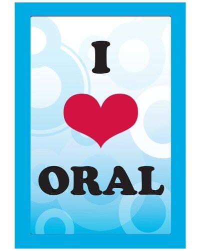 I LOVE ORAL CARD