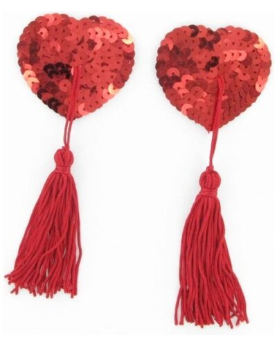 Sequin Nipple tassels Red