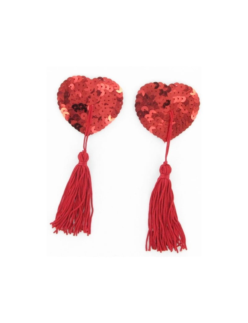 Sequin Nipple tassels Red