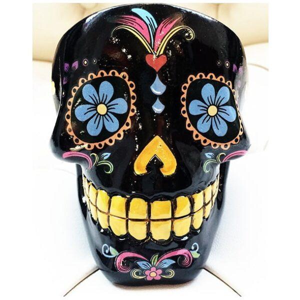 Sugar Skull Ashtray Black-2246