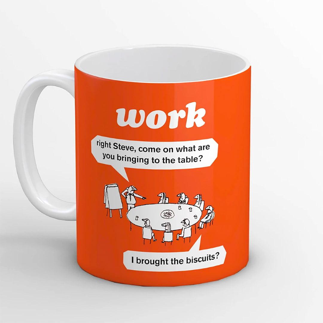 Work Biscuits Mug from Modern Toss